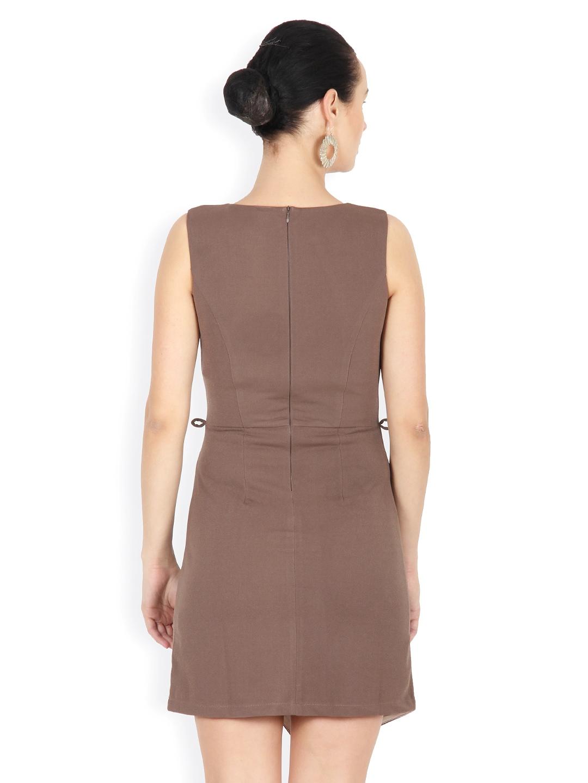 Myntra Calgari Women Brown Tailored Dress 488837