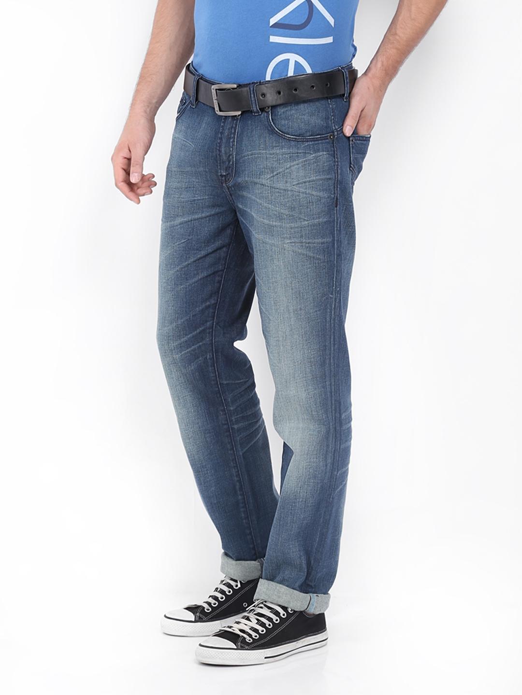 Myntra Calvin Klein Jeans Men Blue Body Skinny Fit Jeans ...