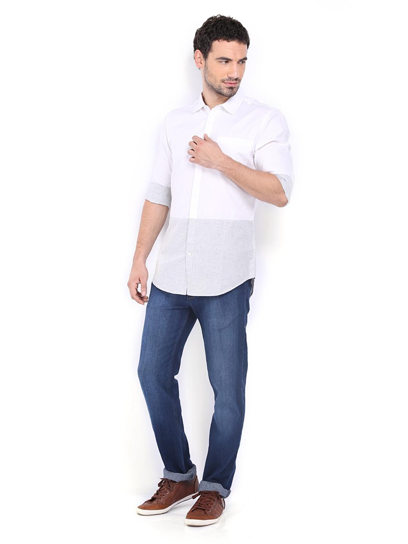Myntra Calvin Klein Jeans Men White Casual Shirt 275915