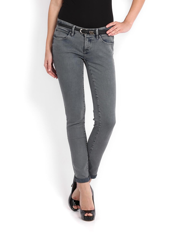 Myntra Calvin Klein Jeans Women Grey Body Skinny Fit Jeans ...