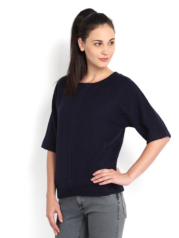 Myntra Calvin Klein Jeans Women Navy Top 538168