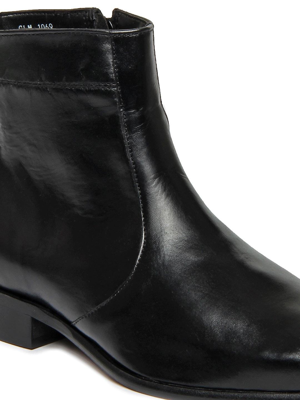 Buy Carlton London Men Black Leather Boots 1419041 for men online ...