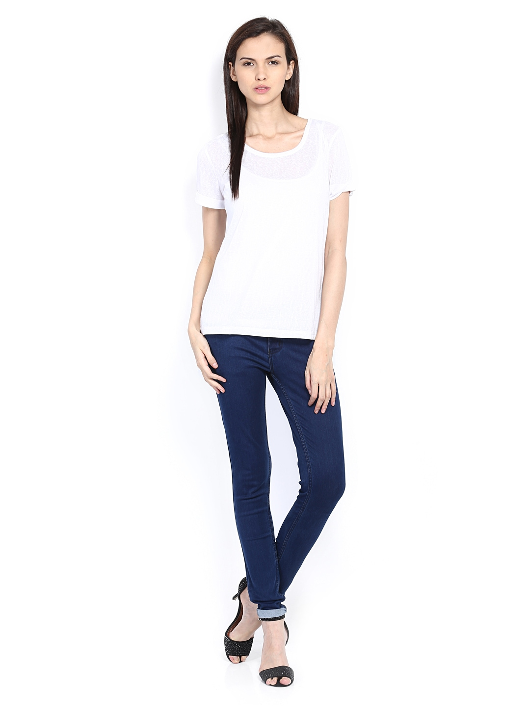 Myntra The Collection by Debenhams Women White Top 348617 ...