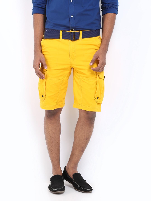 Buy Celio Men Yellow Cargo Shorts 1399025 for online in india on ...