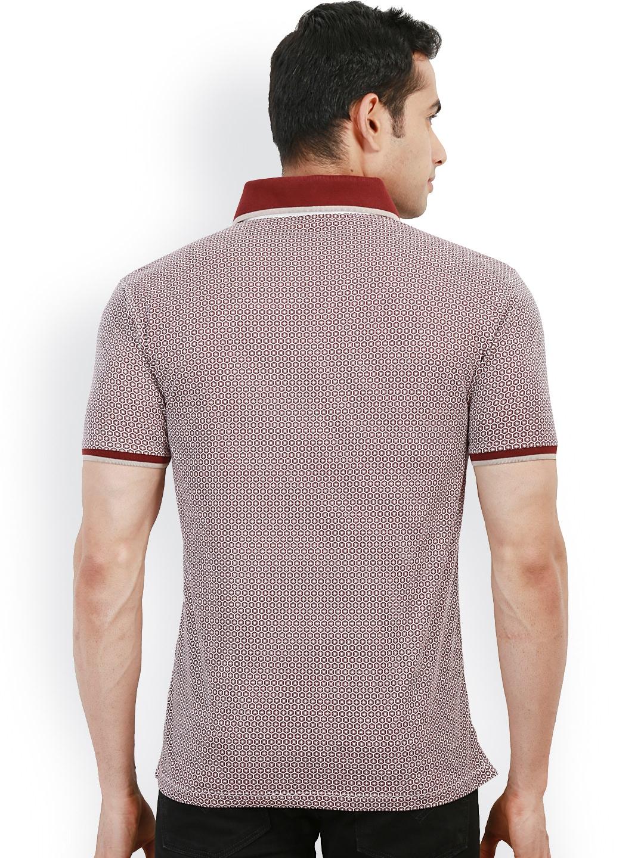 Myntra design classics maroon white printed slim fit for Myntra t shirt design