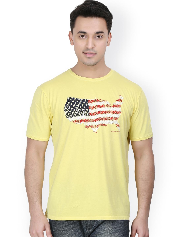 Myntra design classics men yellow printed t shirt 646127 for Myntra t shirt design