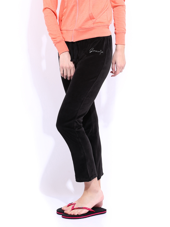 Brilliant Women39s Drawstring Lounge Pants Black  Cottonique  Allergyfree