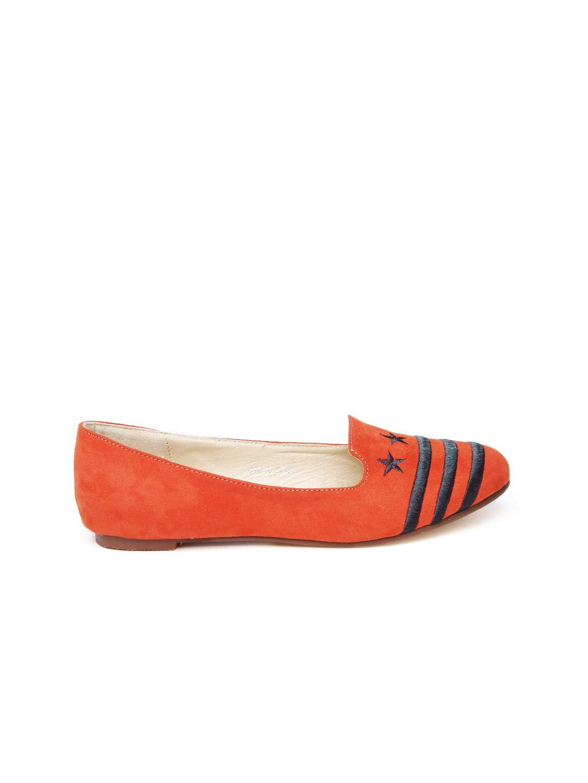 myntra dressberry orange flat shoes 519435 buy