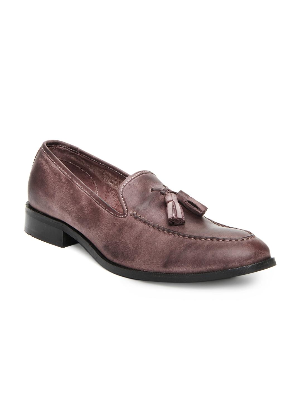 myntra estd 1977 burgundy leather casual shoes 333027