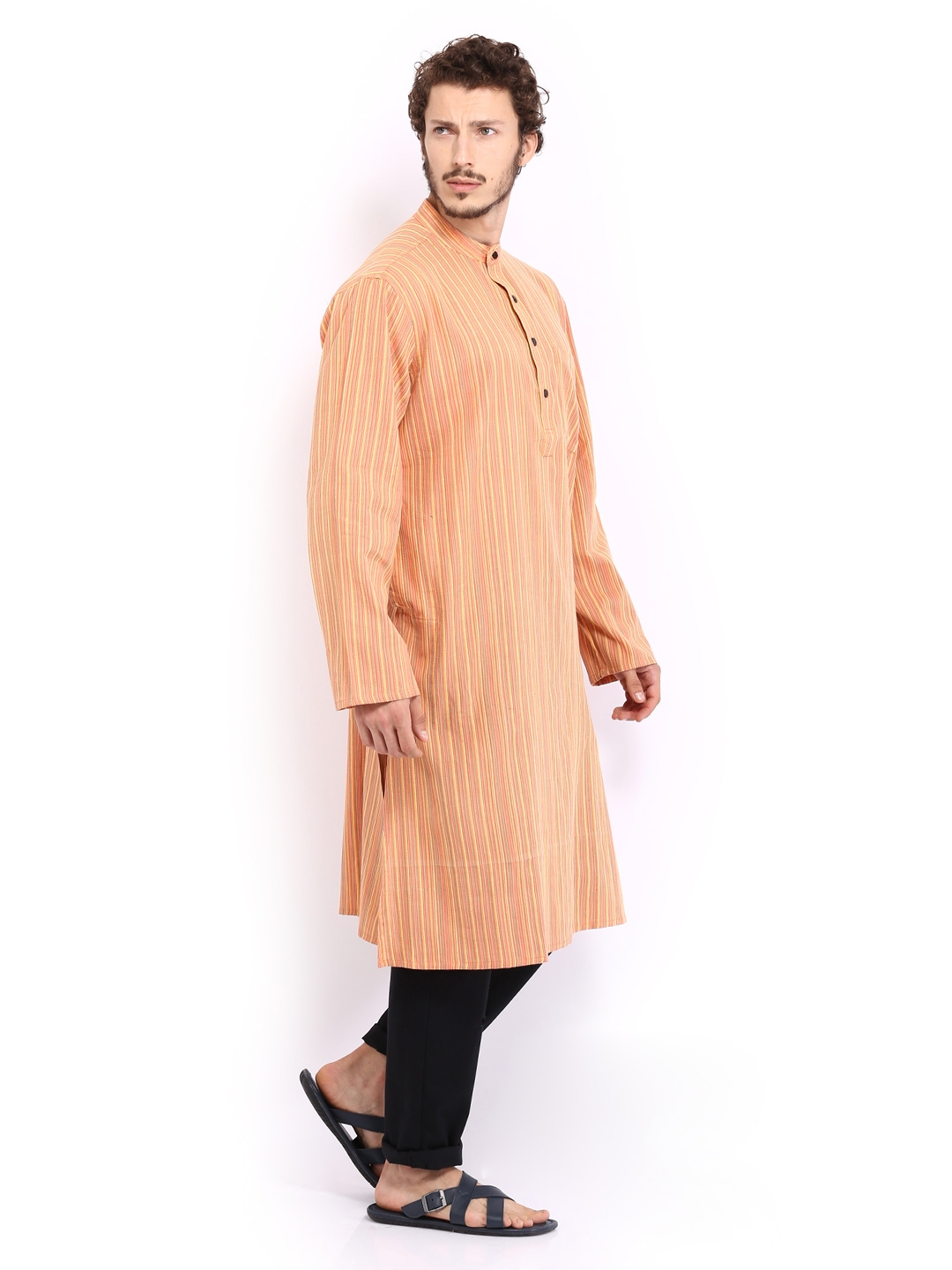 Myntra Fabindia Men Orange Kurta 474848 Buy Kurtas