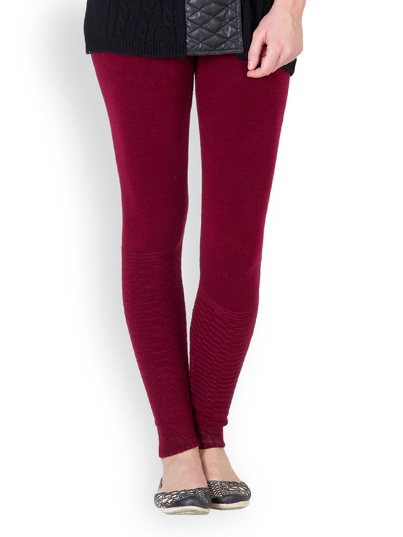 myntra fantasy women maroon woollen ankle length leggings 598625 buy myntra fantasy leggings. Black Bedroom Furniture Sets. Home Design Ideas
