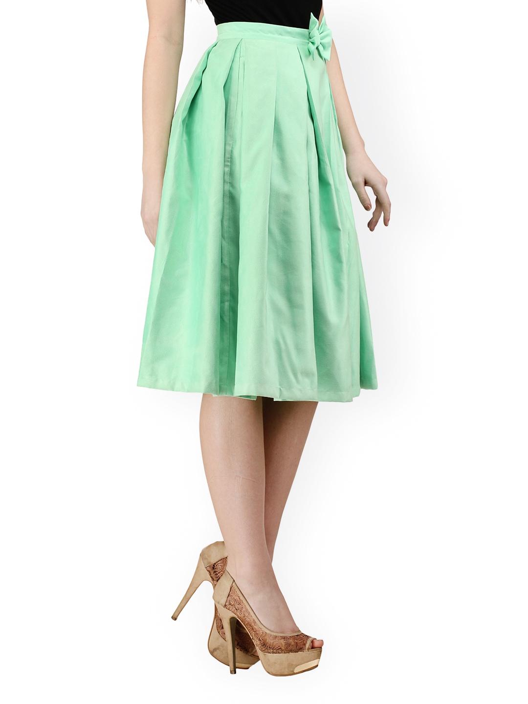Green A Line Skirt 69