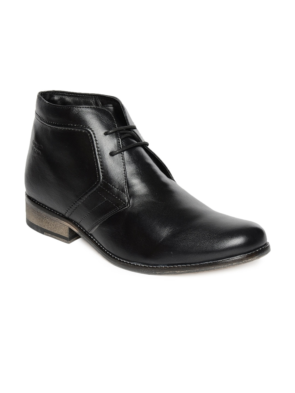 myntra franco black semi formal shoes 84222