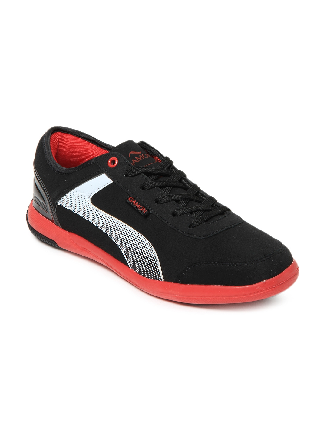 myntra g sports gamon black feather casual shoes