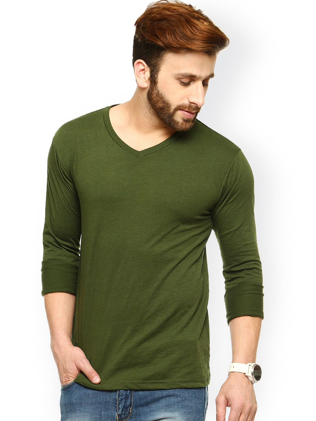 Olive Green Shirt Mens Artee Shirt