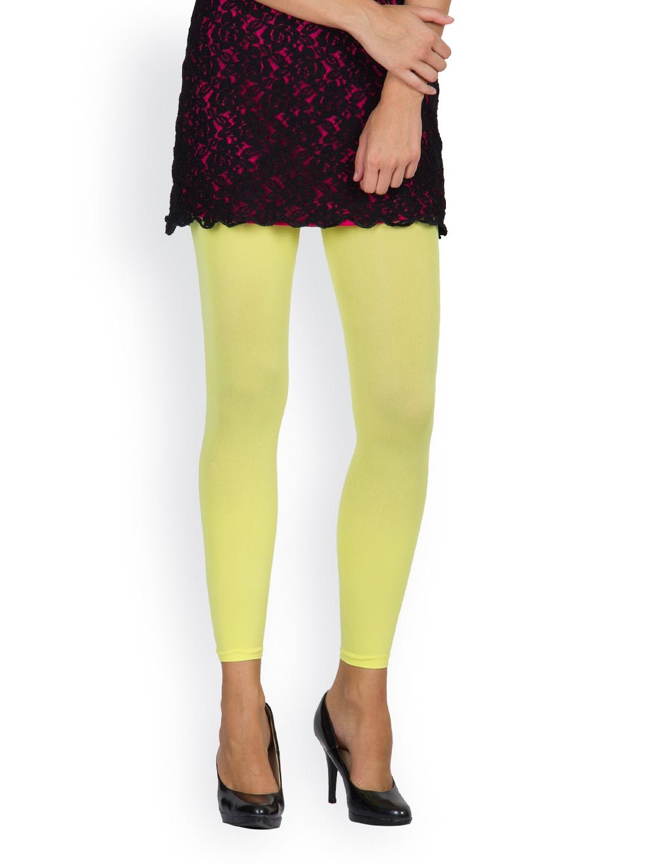Myntra Golden Girl Women Lemon Yellow Leggings 433023