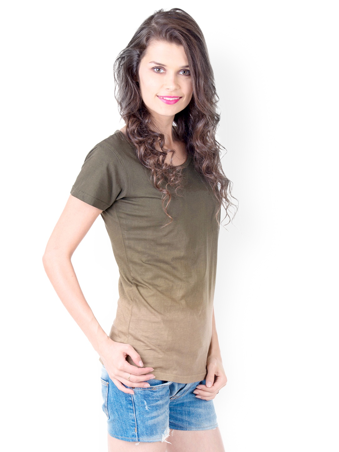 Myntra Gypsy Soul Women Olive Green T Shirt 486836 Buy