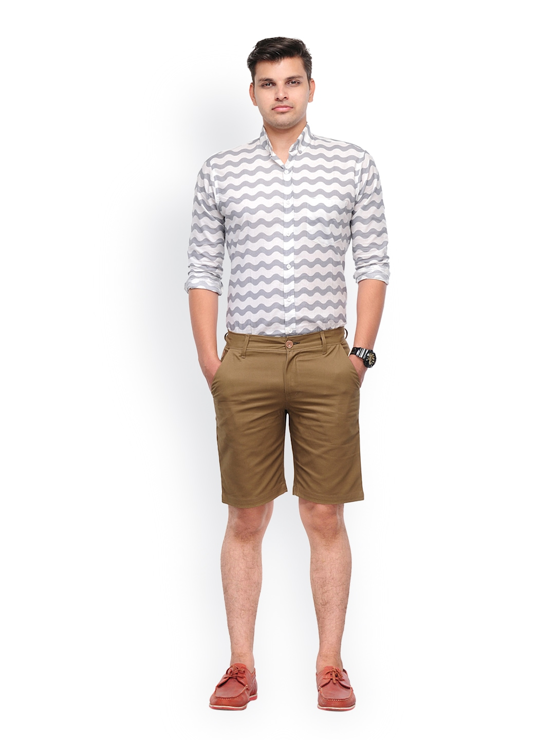 Myntra haute couture men khaki brown shorts 608208 buy for Haute couture male