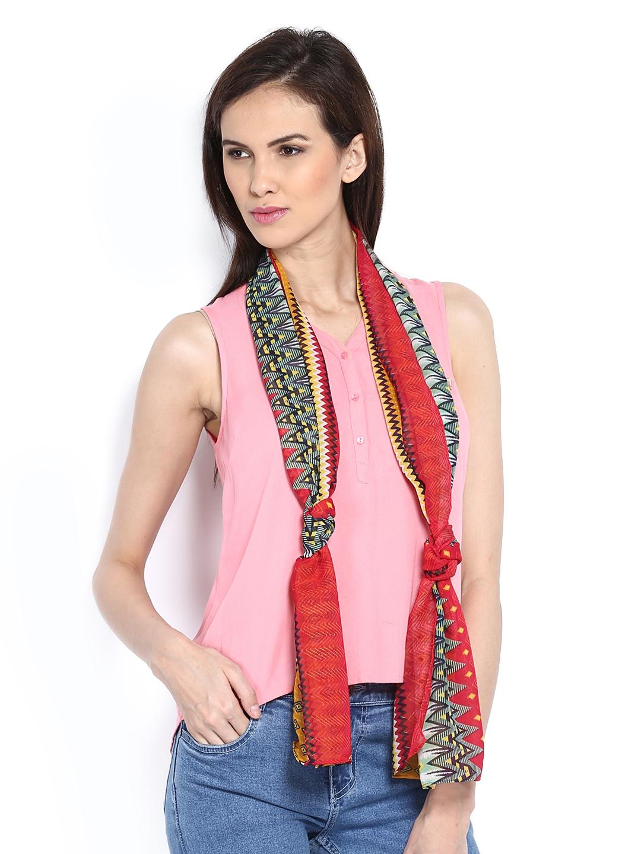 myntra hi look multi coloured printed scarf 362860