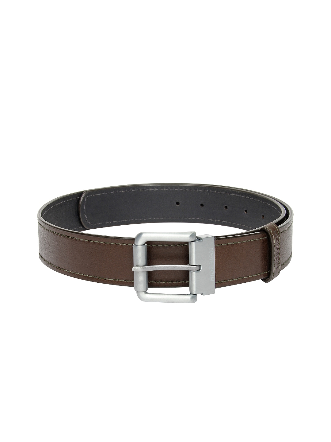 Myntra Hidesign Men Brown & Black Reversible Leather Belt ...