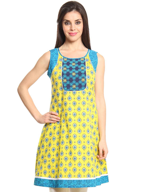 Myntra shraddha kapoor for imara women yellow amp blue