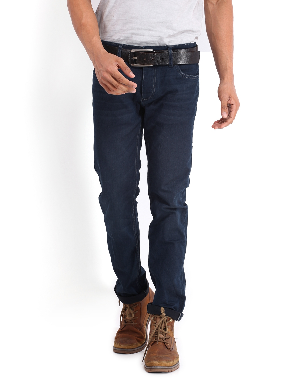 myntra jack jones men blue tim slim fit jeans 404019 buy myntra jack jones jeans at best. Black Bedroom Furniture Sets. Home Design Ideas