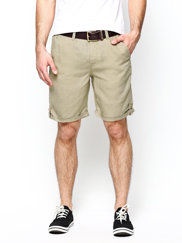 myntra jack jones men beige shorts 509398 buy myntra. Black Bedroom Furniture Sets. Home Design Ideas