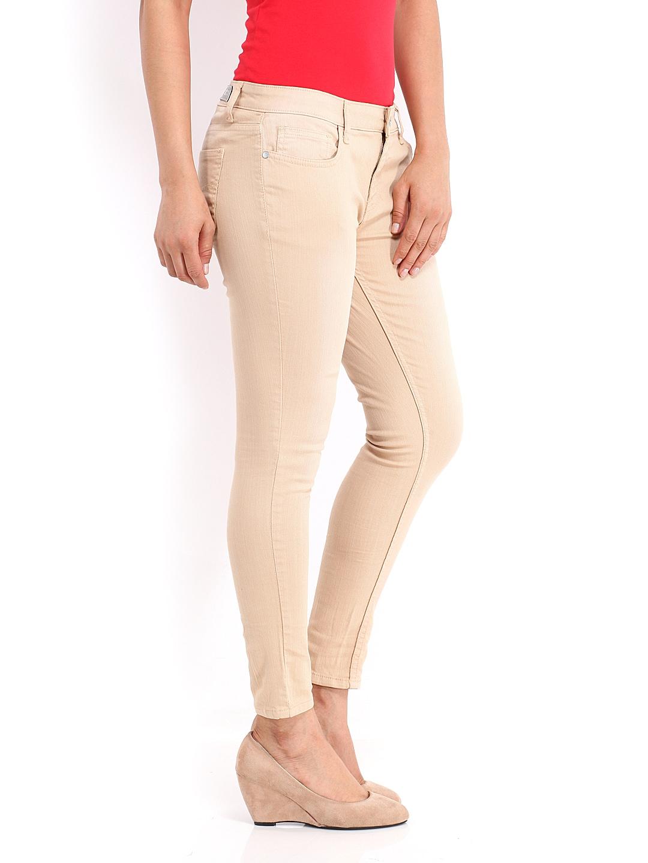 Buy Jealous 21 Women Beige Hottie Ultra Slim Fit Ankle Length ...
