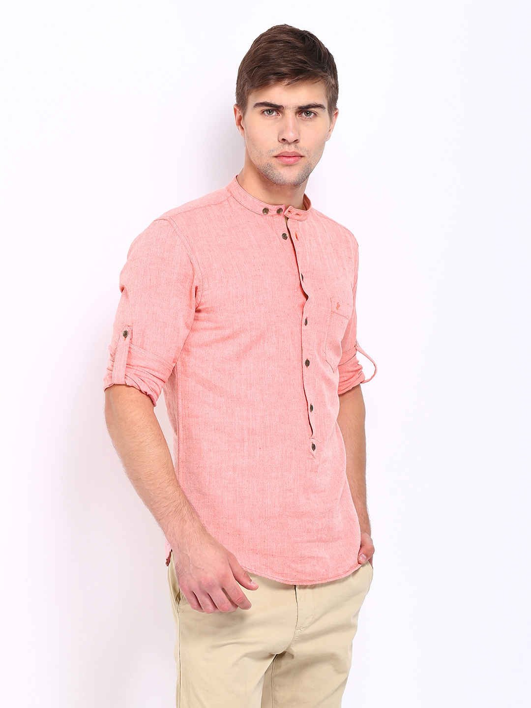 Peach Shirt For Men | Is Shirt