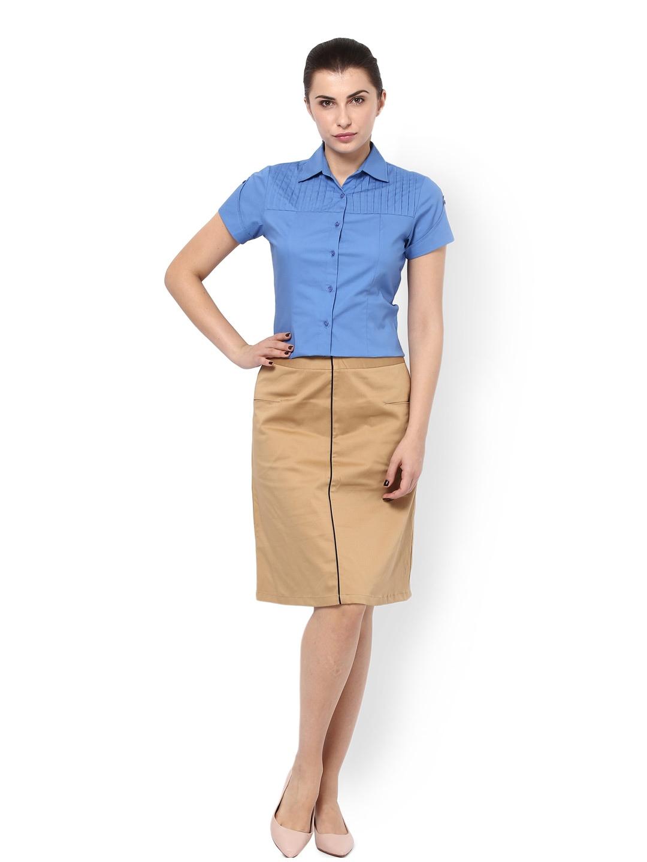 myntra kaaryah beige a line skirt 775770 buy myntra