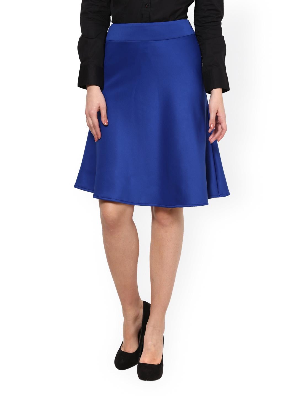 myntra kaaryah royal blue formal a line skirt 732688 buy