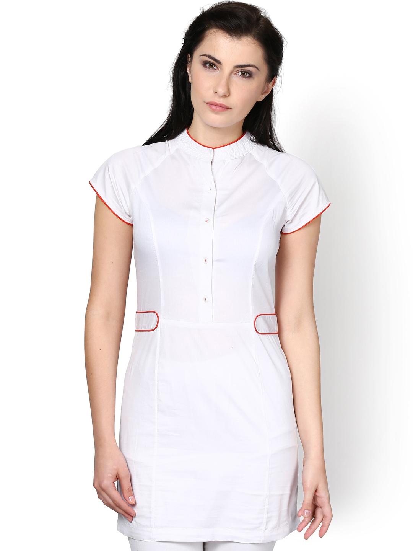 Myntra kaaryah women white loose fit shirt 722781 buy for Shirts online shopping lowest price
