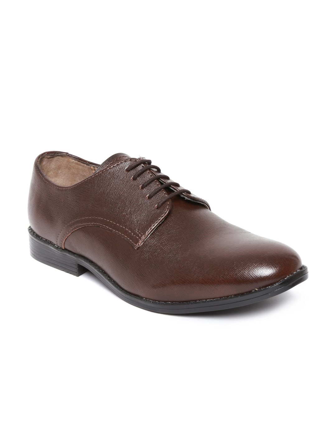 myntra knotty derby brown formal shoes 553378 buy