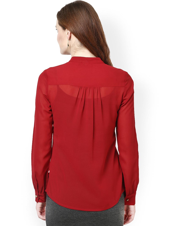 Myntra la zoire women maroon shirt 641061 buy myntra la for Shirts online shopping lowest price