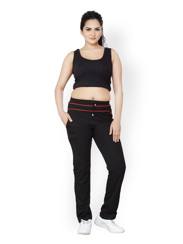 Wonderful Women Black Track Pants 758779  Buy Myntra Russell Athletic Track