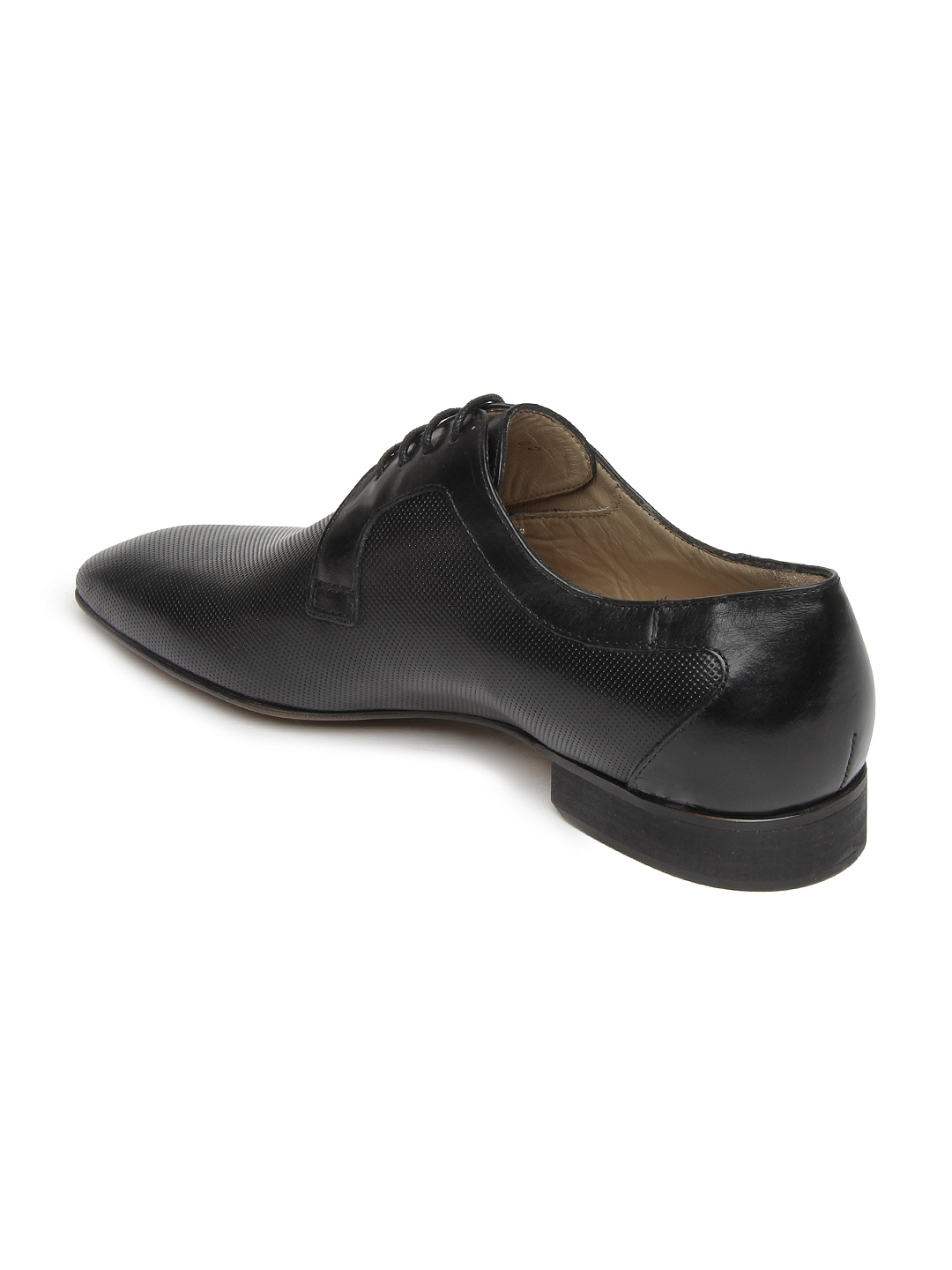 myntra language black leather semi formal shoes 266910