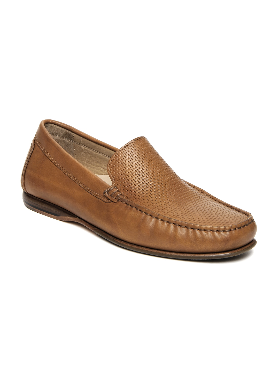 myntra language brown leather semi formal shoes 308495
