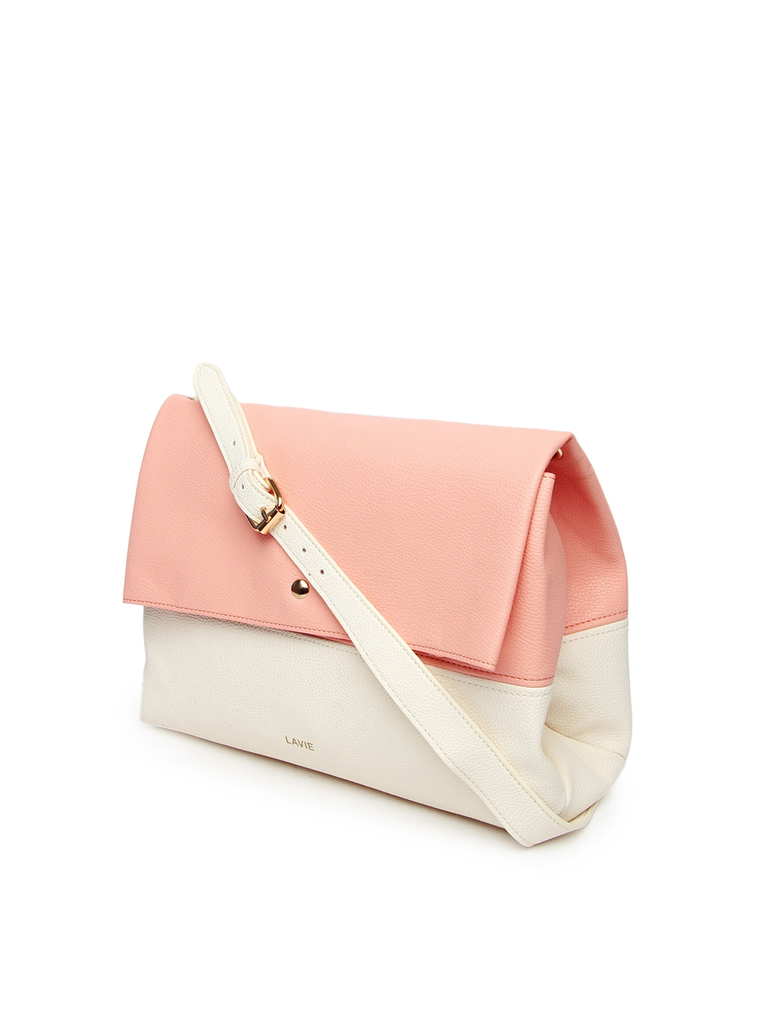 Buy Lavie Pink & Off White Azalia Sling Bag - Handbags for Women ...