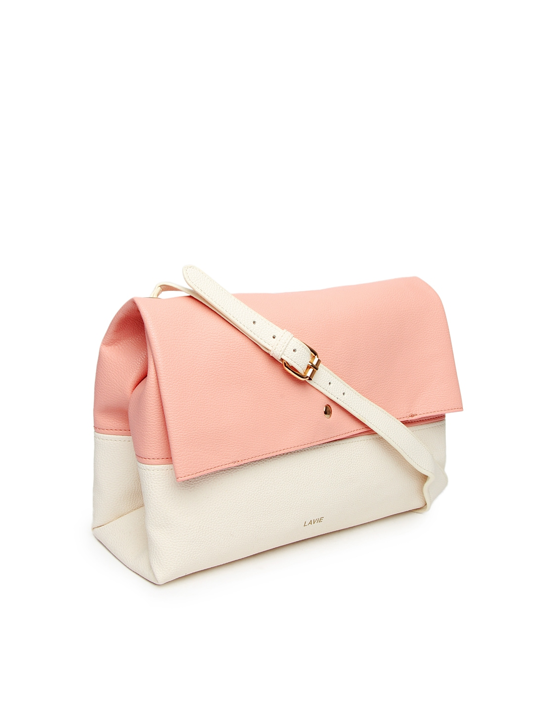 Buy Lavie Pink & Off-White Azalia Sling Bag (multicolor) 6751615 ...