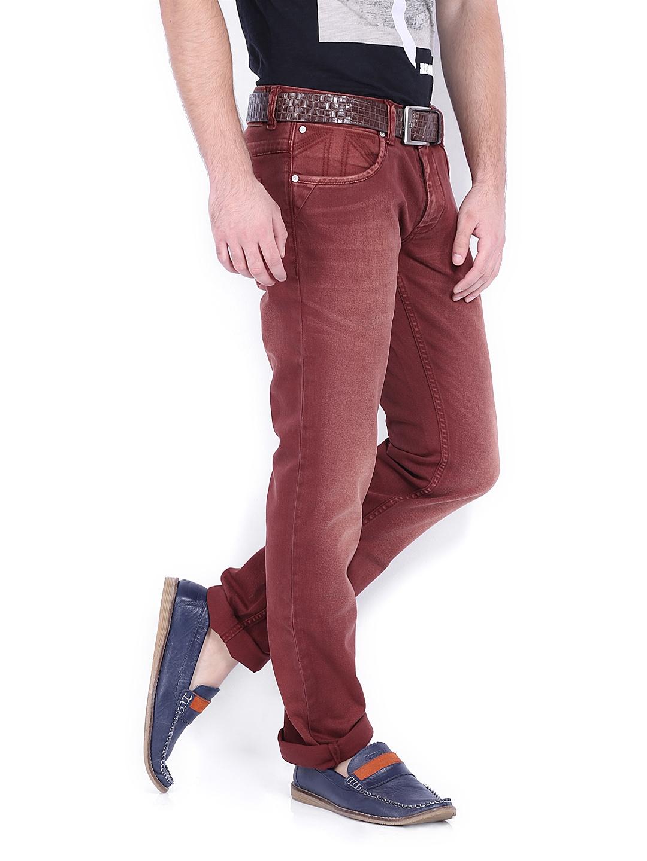 myntra lee cooper men brown norris slim fit jeans 331489 buy myntra lee cooper jeans at best. Black Bedroom Furniture Sets. Home Design Ideas