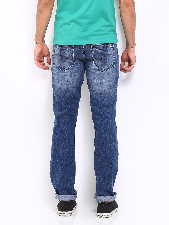 myntra lee cooper men blue arthur regular fit jeans 286975 buy myntra lee cooper jeans at best. Black Bedroom Furniture Sets. Home Design Ideas