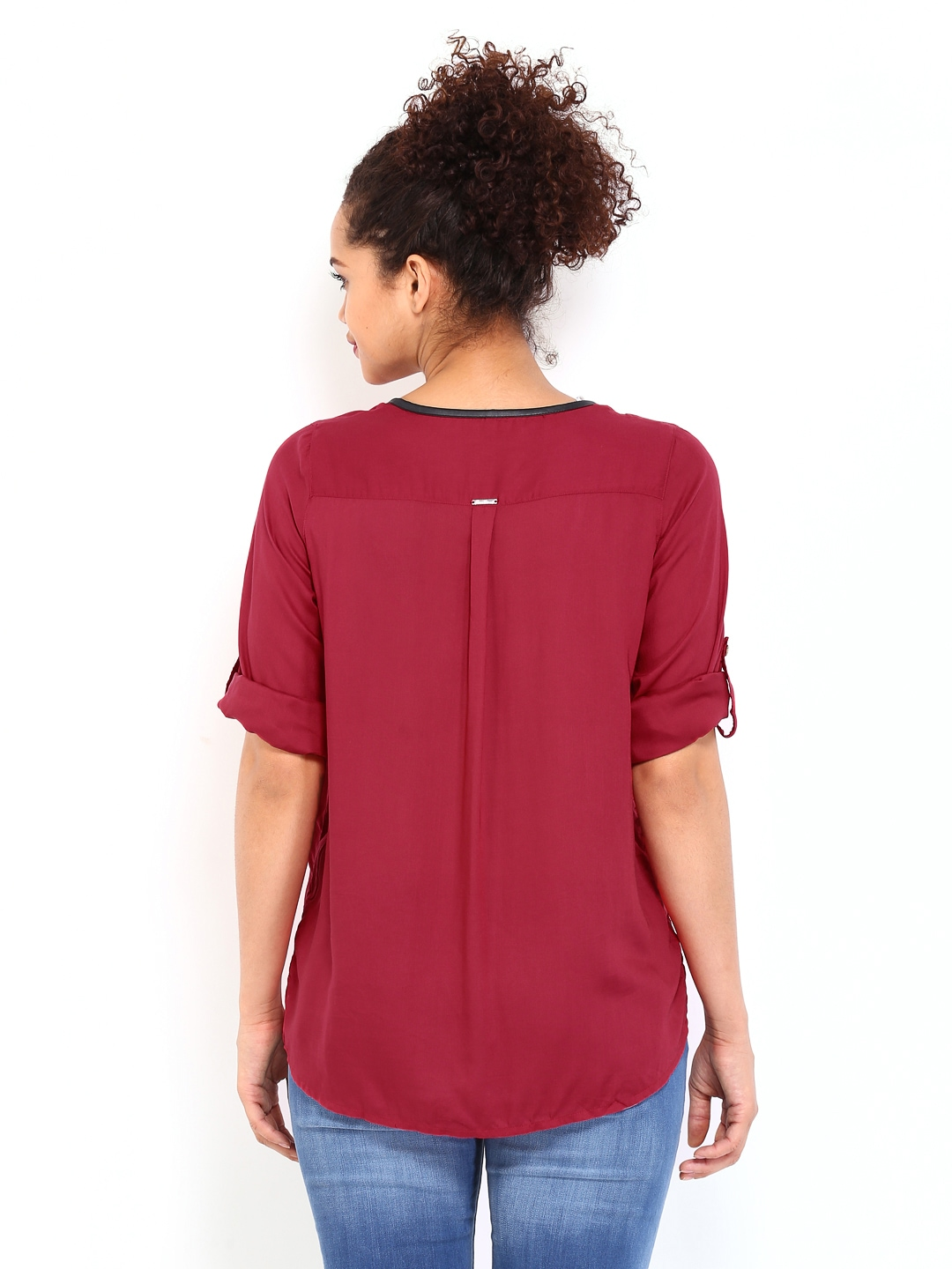 Myntra lee women red shirt 411871 buy myntra lee cooper for Shirts online shopping lowest price