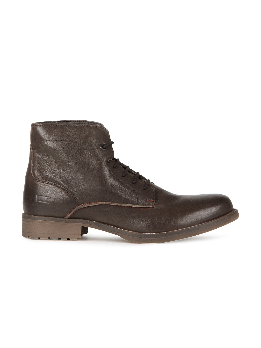 myntra levis brown leather boots 167173 buy myntra