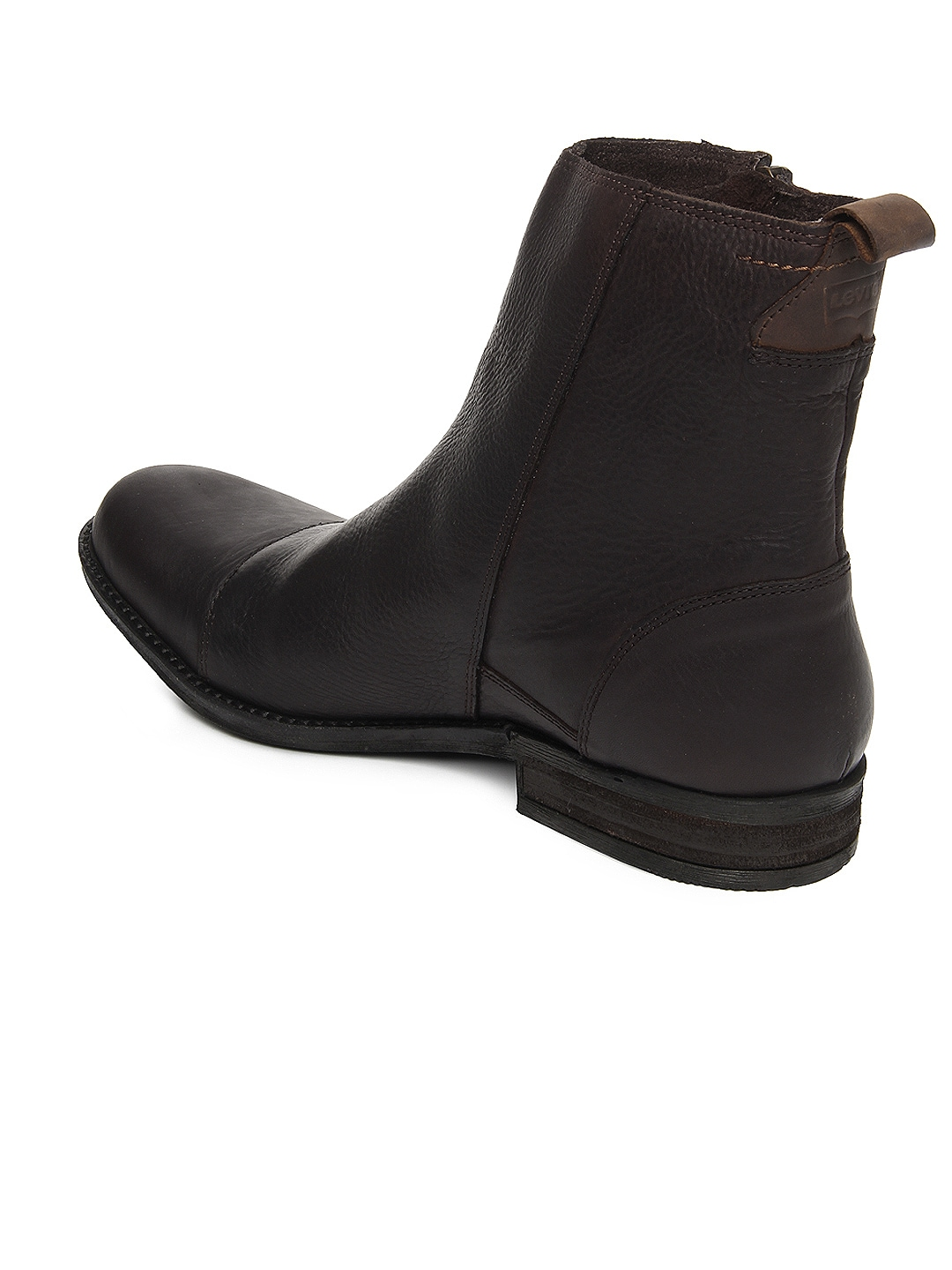 myntra levis brown leather boots 167178 buy