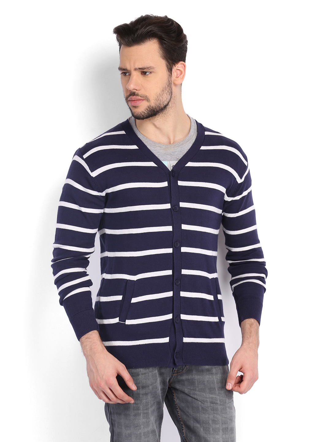 Shop blue white striped sweater at Neiman Marcus, where you will find free shipping on the latest in fashion from top designers. Available in Bright White, Navy. Figue Fringed-Sleeve Intarsia-Stripe Alpaca Cardigan with Embroidery Details Figue intarsia-striped cardigan with embroidery. Open front. 3/4 fringe sleeves. Regular fit.