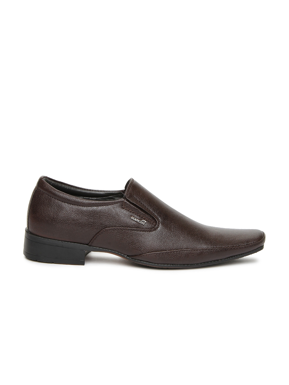 myntra mancini brown semi formal shoes 322149 buy
