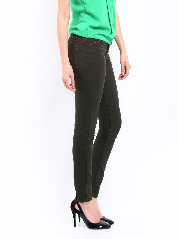 Dark Green Jeans For Women