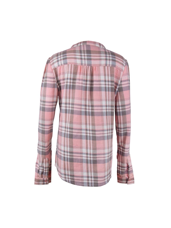 myntra my lil berry girls pink grey checked flannel