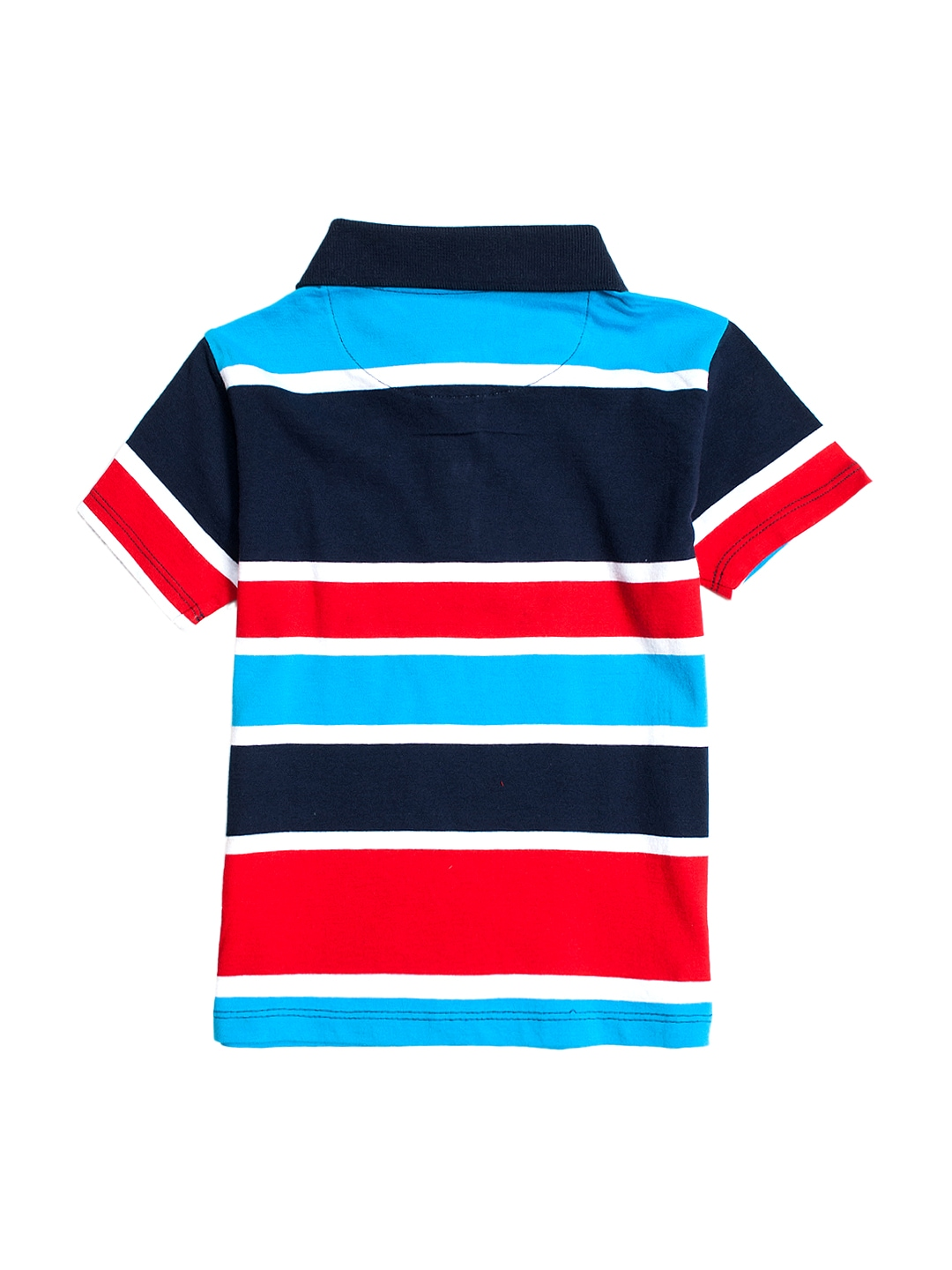 Myntra nauti nati boys red white striped polo t shirt for Red white striped polo shirt