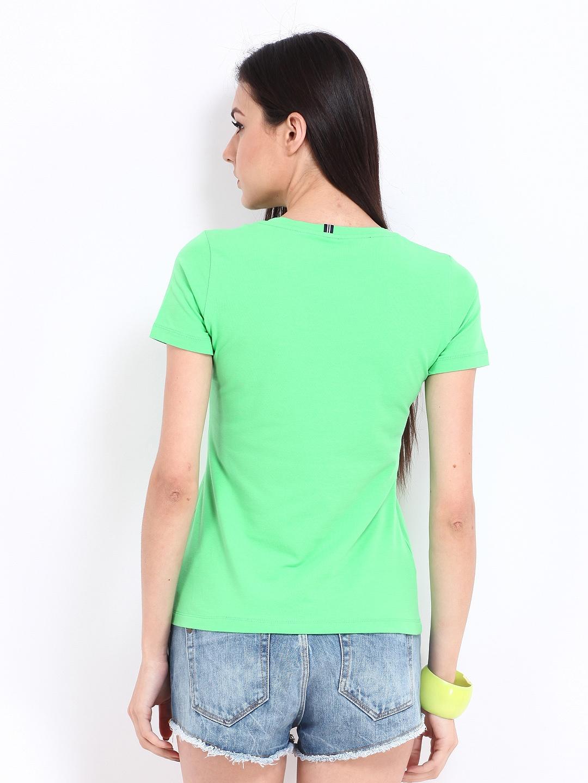 Myntra nautica women green t shirt 257825 buy myntra for Shirts online shopping lowest price